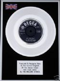"THE ROLLING STONES  - 7"" Platinum Disc - NOT FADE AWAY"